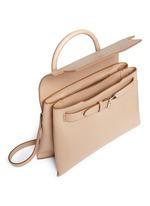 'Attica' top handle crossbody leather bag