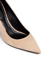 'Trista' cutout heel suede pumps