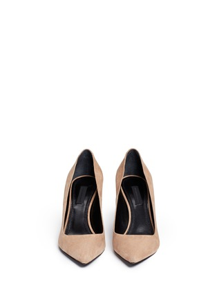 Front View - Click To Enlarge - Alexander Wang  - 'Trista' cutout heel suede pumps