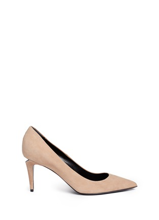 Main View - Click To Enlarge - Alexander Wang  - 'Trista' cutout heel suede pumps