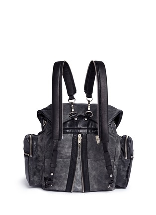 Back View - Click To Enlarge - Alexander Wang  - 'Marti' crackled lambskin leather three-way backpack