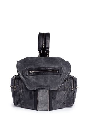 Main View - Click To Enlarge - Alexander Wang  - 'Marti' crackled lambskin leather three-way backpack