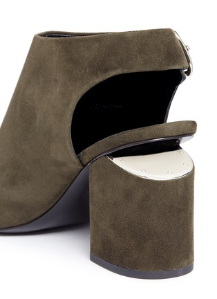 Detail View - Click To Enlarge - Alexander Wang  - 'Nadia' cutout heel suede sandal booties