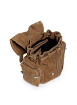 'Mini Marti' nubuck leather three-way backpack