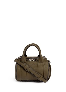Alexander Wang 'Mini Rockie' pebbled leather duffle bag