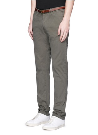 Front View - Click To Enlarge - Scotch & Soda - 'Stuart' garment dyed slim fit chinos