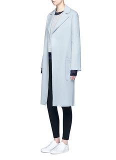Helmut LangTie sleeve seamless wool blend sweater