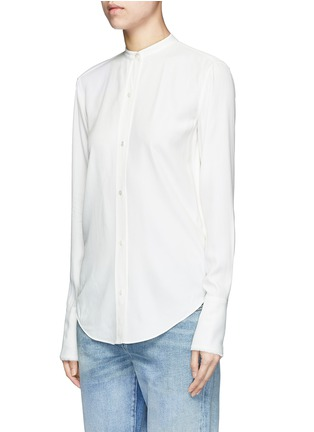 Front View - Click To Enlarge - Helmut Lang - Cutout knotted back jacquard shirt