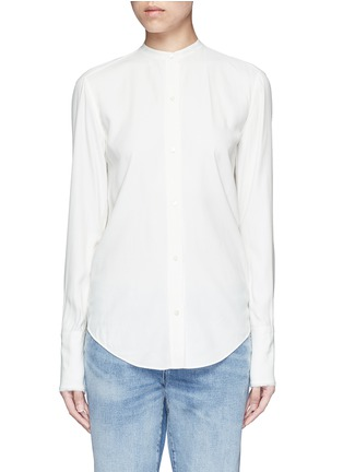 Main View - Click To Enlarge - Helmut Lang - Cutout knotted back jacquard shirt