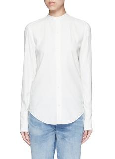 HELMUT LANGCutout knotted back jacquard shirt