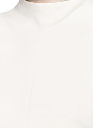 Detail View - Click To Enlarge - Tibi - Tie sleeve mock neck dress