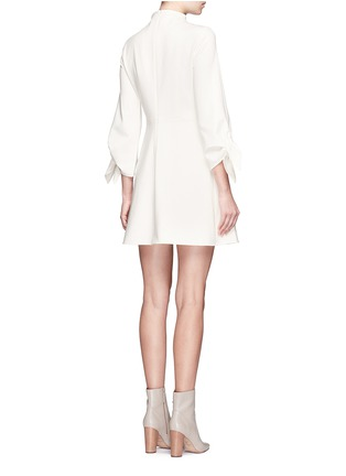 Back View - Click To Enlarge - Tibi - Tie sleeve mock neck dress