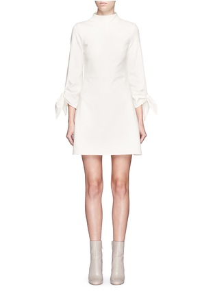 Main View - Click To Enlarge - Tibi - Tie sleeve mock neck dress