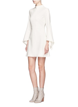 Figure View - Click To Enlarge - Tibi - Tie sleeve mock neck dress