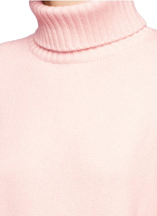 Detail View - Click To Enlarge - Tibi - Oversized cashmere turtleneck sweater