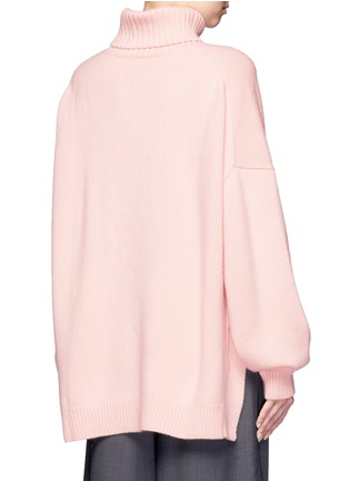 Back View - Click To Enlarge - Tibi - Oversized cashmere turtleneck sweater