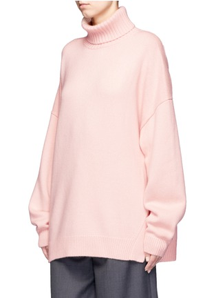 Front View - Click To Enlarge - Tibi - Oversized cashmere turtleneck sweater