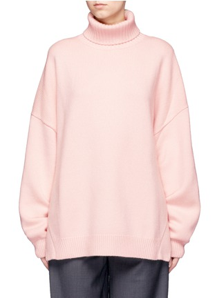 Main View - Click To Enlarge - Tibi - Oversized cashmere turtleneck sweater