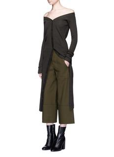 TibiMerino wool rib knit cardigan dress