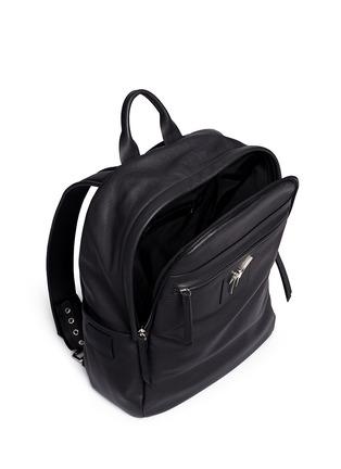 Giuseppe Zanotti Design-Logo plate leather backpack