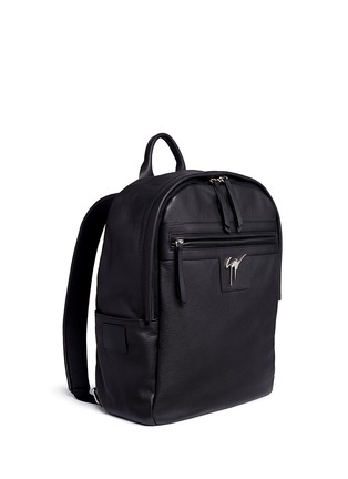 Front View - Click To Enlarge - Giuseppe Zanotti Design - Logo plate leather backpack