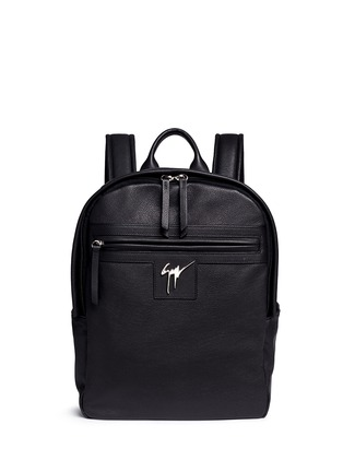 Main View - Click To Enlarge - Giuseppe Zanotti Design - Logo plate leather backpack