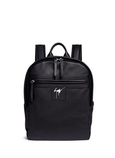 Giuseppe Zanotti Design Logo plate leather backpack
