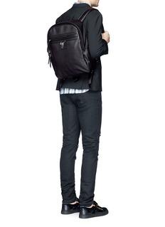 Giuseppe Zanotti DesignLogo plate leather backpack