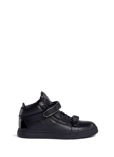 Giuseppe Zanotti Design 'Trix' crystal strap leather high top sneakers