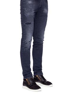Giuseppe Zanotti Design'Singleg' mid top combo leather sneakers