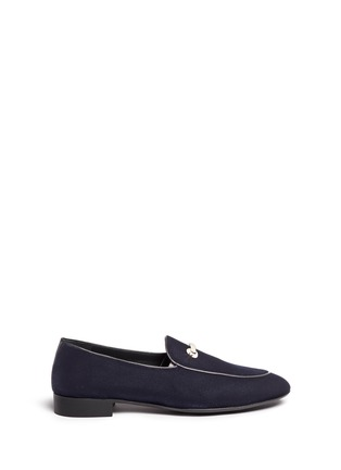 Main View - Click To Enlarge - Giuseppe Zanotti Design - 'Cut 15' clamp velvet loafers