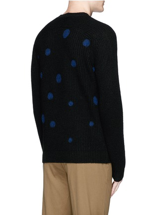 Back View - Click To Enlarge - PS by Paul Smith - Polka dot intarsia wool sweater