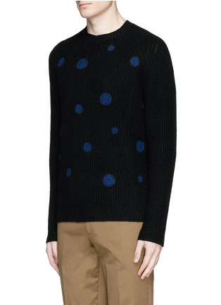 Front View - Click To Enlarge - PS by Paul Smith - Polka dot intarsia wool sweater