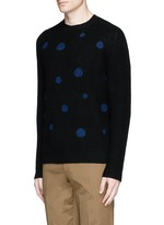 Polka dot intarsia wool sweater