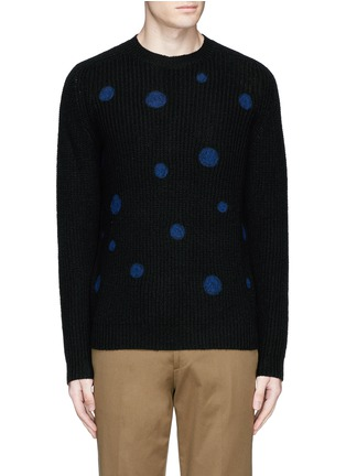 Main View - Click To Enlarge - PS by Paul Smith - Polka dot intarsia wool sweater