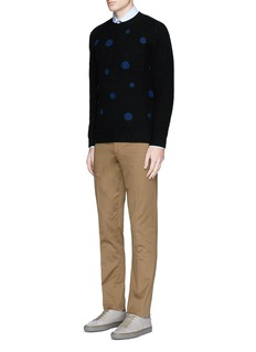 PS by Paul Smith Polka dot intarsia wool sweater