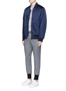 PS by Paul Smith Contrast cuff cropped wool jogging pants