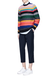 PS by Paul Smith Stripe merino-mohair blend sweater