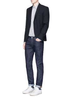 PS by Paul Smith Slim fit windowpane check wool-blend blazer