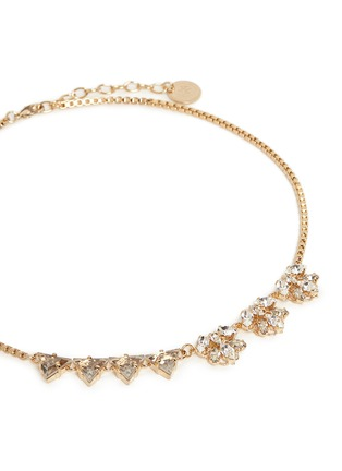 Detail View - Click To Enlarge - Anton Heunis - Asymmetric floral Swarovski crystal choker necklace