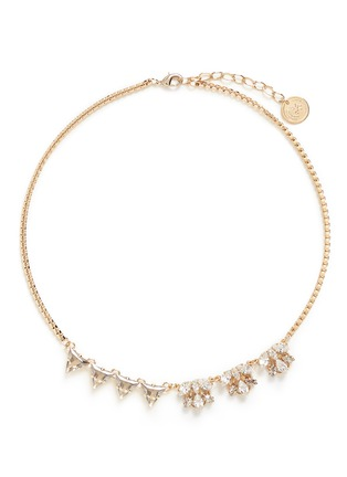 Main View - Click To Enlarge - Anton Heunis - Asymmetric floral Swarovski crystal choker necklace