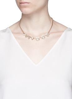 Anton HeunisAsymmetric floral Swarovski crystal choker necklace