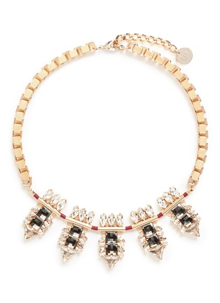 Main View - Click To Enlarge - Anton Heunis - Swarovski crystal cluster box chain necklace