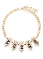 Swarovski crystal cluster box chain necklace