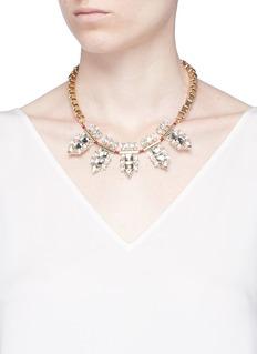Anton HeunisSwarovski crystal cluster box chain necklace