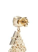 Swarovski crystal glass stone floral cluster drop earrings