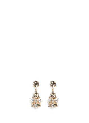 Main View - Click To Enlarge - Anton Heunis - Swarovski crystal glass stone floral cluster drop earrings