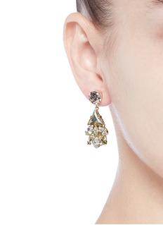 Anton HeunisSwarovski crystal glass stone floral cluster drop earrings