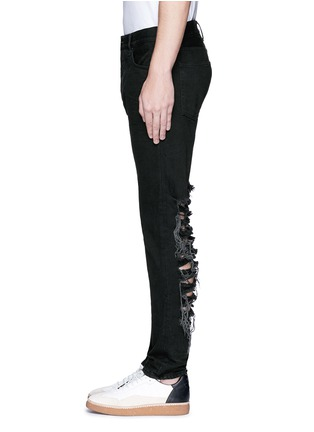 Detail View - Click To Enlarge - Palm Angels - Regular fit ladder ripped jeans