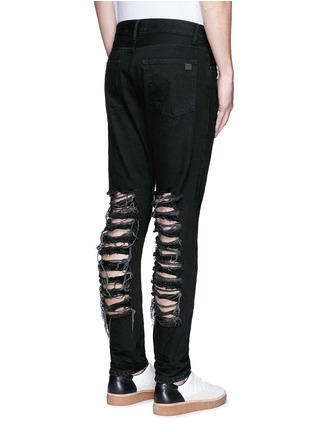 Back View - Click To Enlarge - Palm Angels - Regular fit ladder ripped jeans